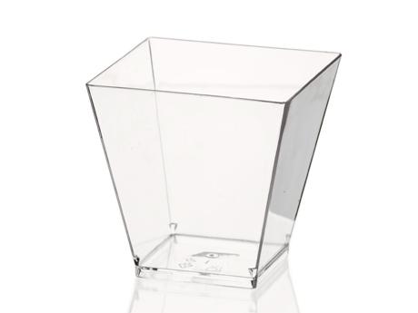 Verrine large carrée cristal